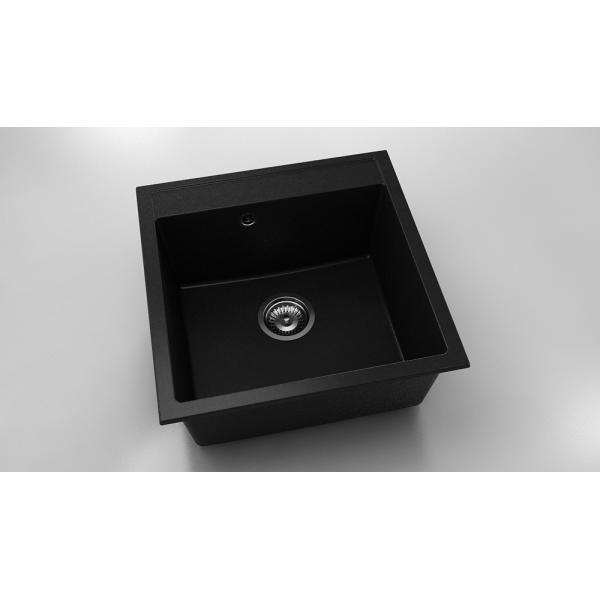 Chiuveta cu o cuva negru metalic 51 cm/51 cm (225) 0