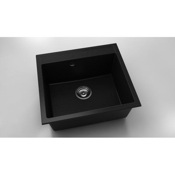 Chiuveta cu o cuva negru metalic 56 cm/51 cm (226) 0