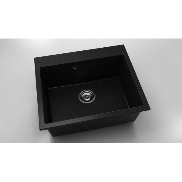 Chiuveta cu o cuva negru metalic 60 cm/ 51 cm (227) 0