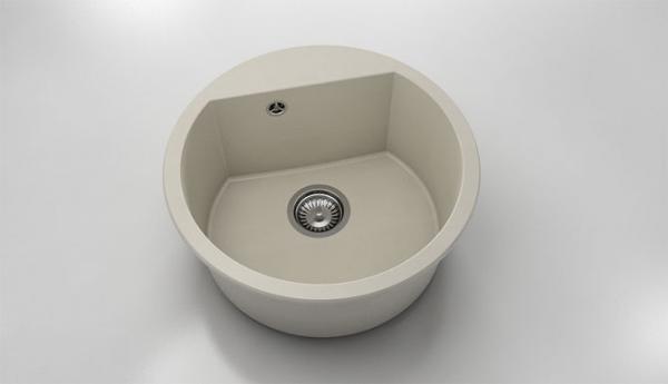 Chiuveta rotunda bej Ø 51 cm (223) 0