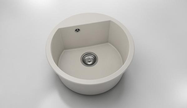 Chiuveta rotunda bej deschis Ø 51 cm (223) 0