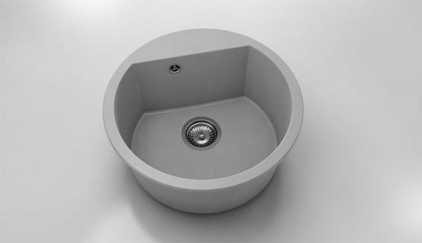 Chiuveta rotunda gri Ø 51 cm (223) 0