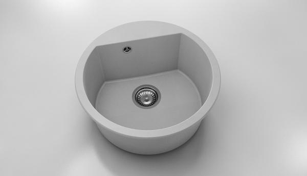 Chiuveta rotunda gri deschis Ø 51 cm (223) [0]