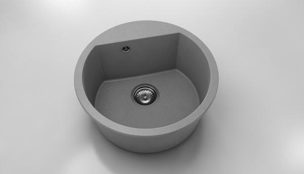Chiuveta rotunda gri metalic Ø 51 cm (223) 0