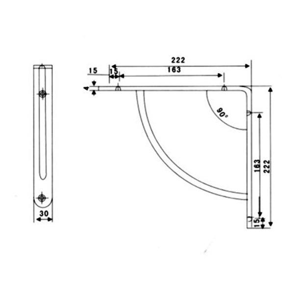 Consola, suport raft inox satinat 3 1