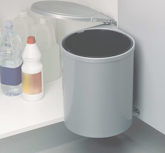 Cos de gunoi gri 13 l incorporabil in dulap de bucatarie 1
