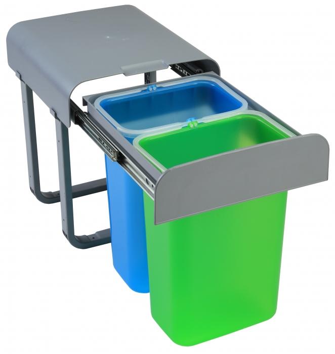 Cos de gunoi incorporabil Aladin cu doua compartimente x 8 litri [0]
