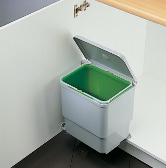 Cos de gunoi Sesamo incorporabil in dulap, cu 1 compartiment x 16 L, pentru corp de 450 mm latime 1