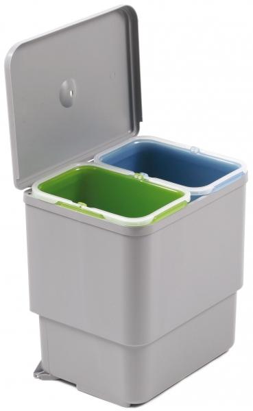 Cos de gunoi Sesamo incorporabil in dulap, cu 2 compartimente x 8 L, pentru corp de 450 mm latime 0