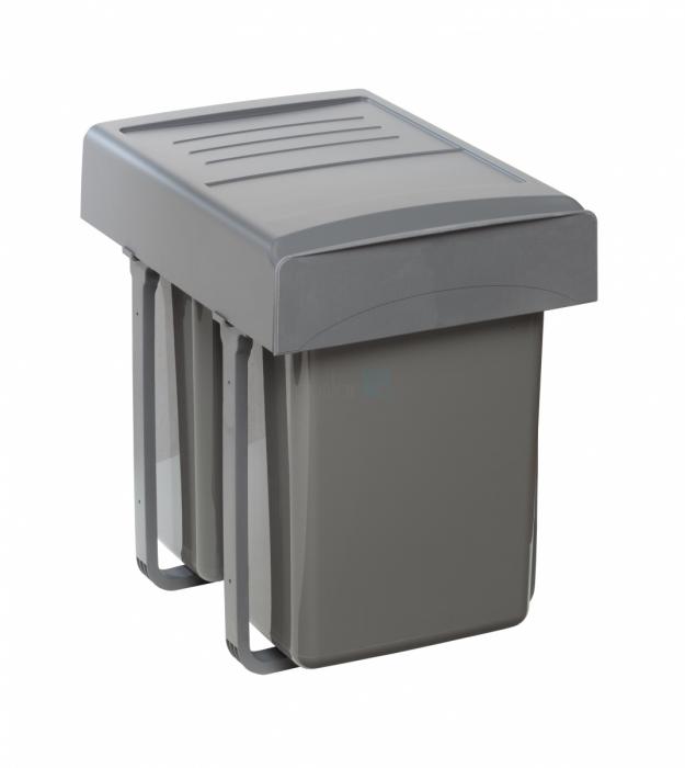 Cos de gunoi  Mega incorporabil, colectare selectiva,  cu 2 compartimente x20 litri 1