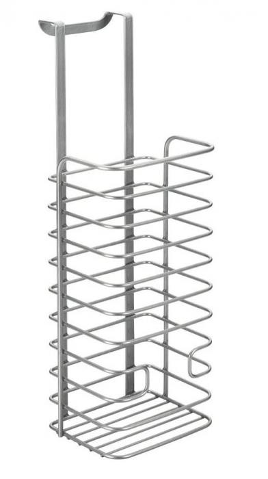 Cos organizare depozitare pungi, gri, 12x12x36 cm 2