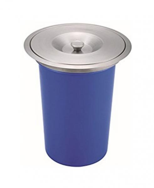 Cos pentru reciclare 8 litri cu capac de inox incastrabil in blat [0]
