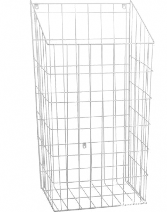 Cos rufe murdare incorporabil in dulap, alb 590 x 320 x 245 mm 0
