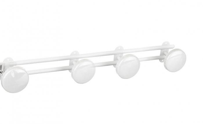 Cuier din metal pentru perete cu patru carlige 0
