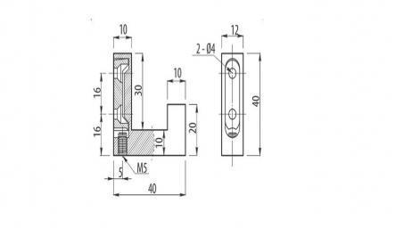 Cuier simplu K22 1