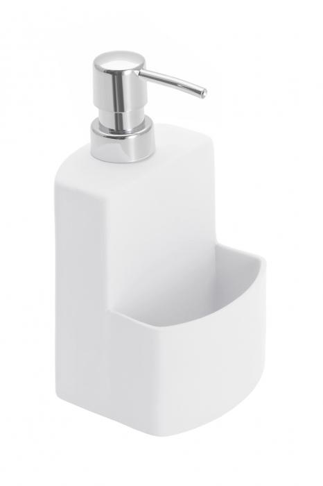 Dispenser sapun lichid cu suport burete, alb festival 0