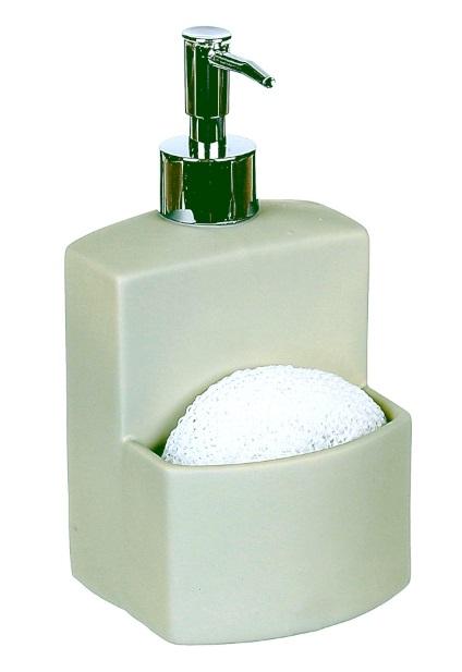 Dozator detergent lichid cu burete, vernil 0