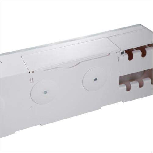 Dozator, dispenser pasta de dinti cu suport multifunctional magnetic pentru 4 pahare, 8 periute si suport telefon mobil de culoare gri cu alb 3