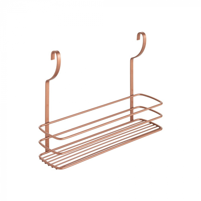 Etajera cu un raft pentru recipiente finisaj cupru 34 x 9 x 26 cm 0