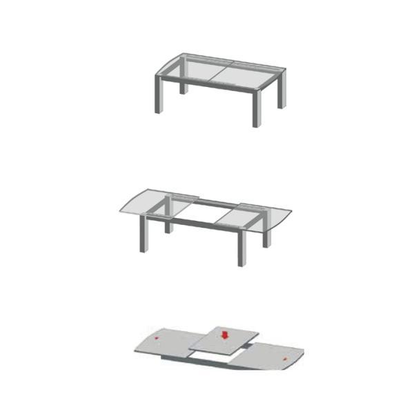Extensie de masă L 1350 mm, sincron cu blocare 1
