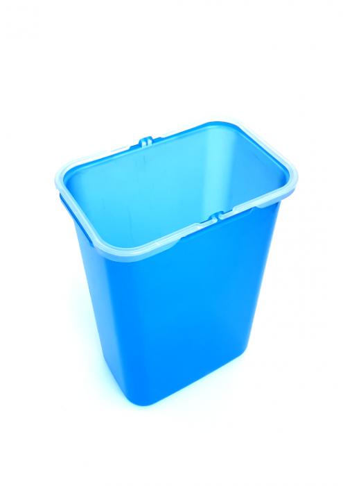 Galeata de schimb 8 l pentru cos de gunoi, albastra 1
