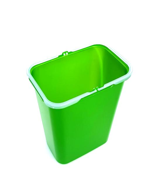 Galeata de schimb 8 l pentru cos de gunoi, verde 1