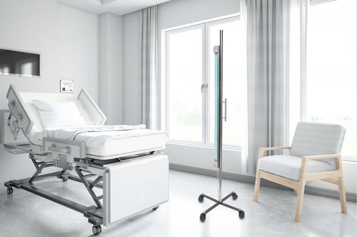Lampa bactericida UV-C 1x36 watt si stativ mobil, pentru dezinfectie camere hotel si pensiuni 3