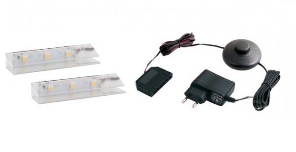 LED 2 pentru polita sticla clip plastic 0