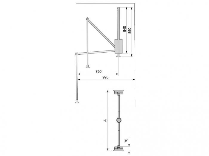 Lift pentru haine GeMax 450 mm-600 mm 1