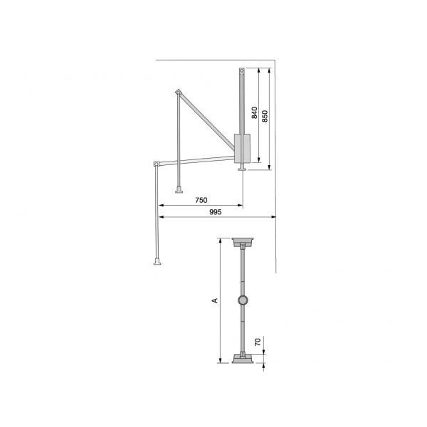 Lift pentru haine GeMax 830 mm-1150mm MG-CT22 [3]