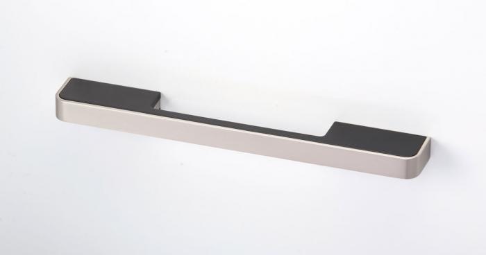 Maner pentru mobila Blok, finisaj nichel periat/negru mat, L:217 mm [1]