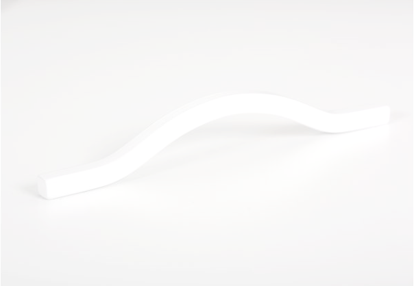 Maner pentru mobila Brave alb mat, L= 160 mm 1