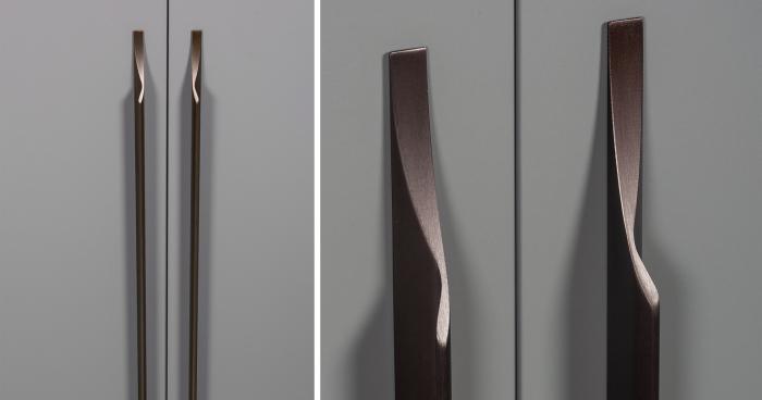 Maner pentru mobila Brikk, finisaj bronz antichizat, L:290 mm [1]