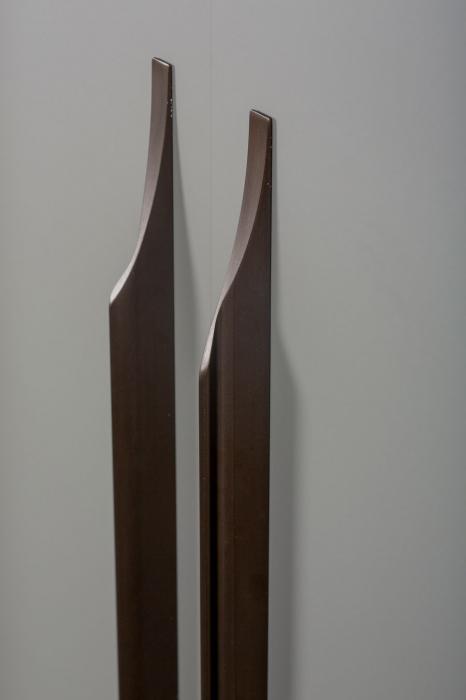 Maner pentru mobila Brikk, finisaj bronz antichizat, L:290 mm [2]