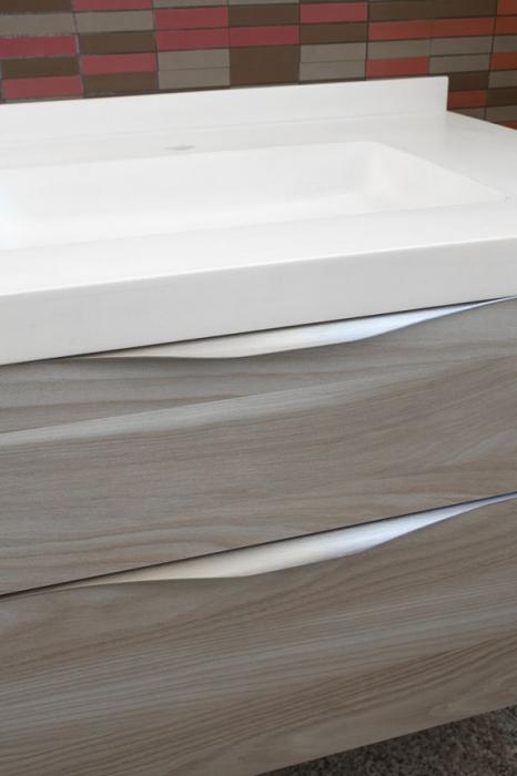 Maner pentru mobila Forma, finisaj otel inoxidabil, L:397 mm [3]