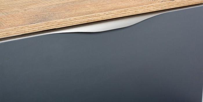 Maner pentru mobila Forma, finisaj otel inoxidabil, L:397 mm [2]