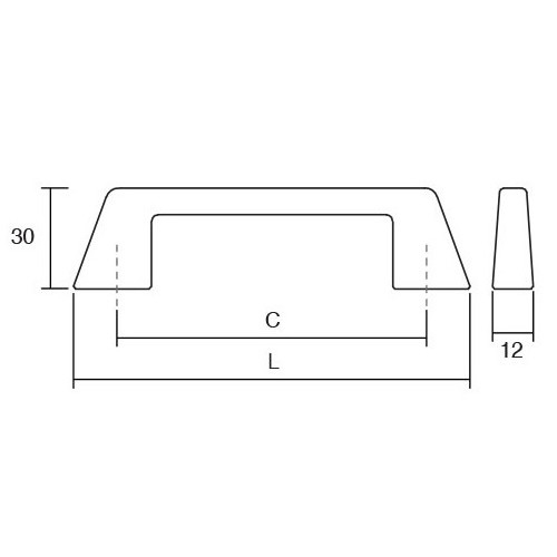 Maner pentru mobila Kado, finisaj nichel periat, L:186 mm [1]