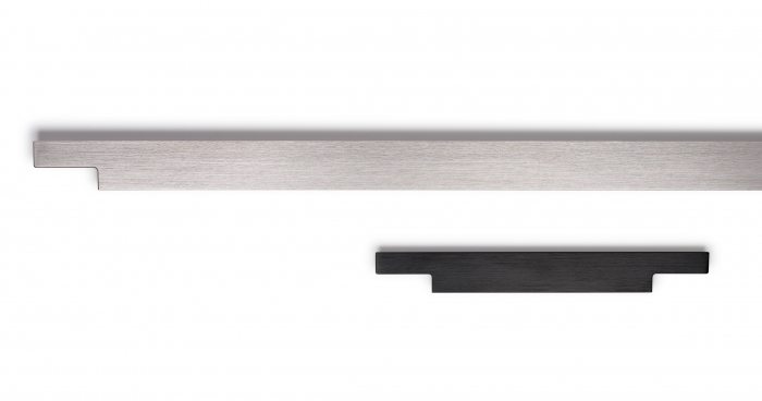 Maner pentru mobila Linear, finisaj otel inoxidabil, L:997 mm [1]