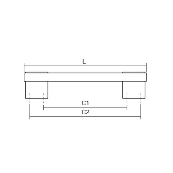 Maner pentru mobila Rec, finisaj auriu mat/maro inchis transparent mat, L:205 mm [2]