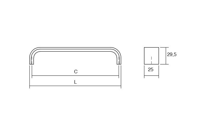 Maner pentru mobila Sense, finisaj crom lucios, L:135 mm [1]