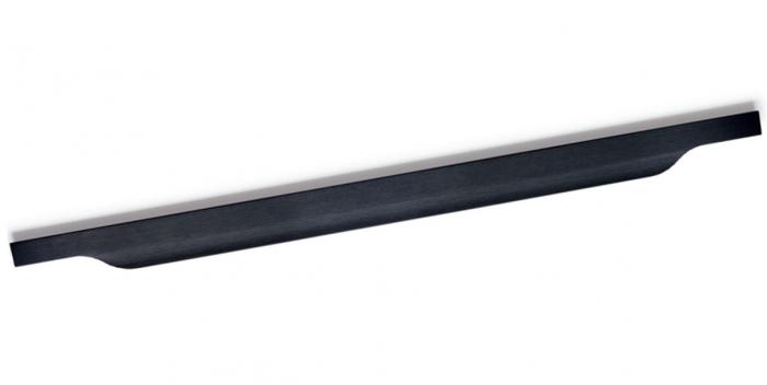 Maner pentru mobila Vector, finisaj negru periat, L:197 mm [0]