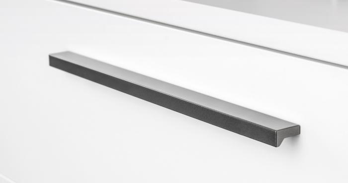 Maner pentru mobilier Angle, finisaj gri metalizat, L: 400 mm 1