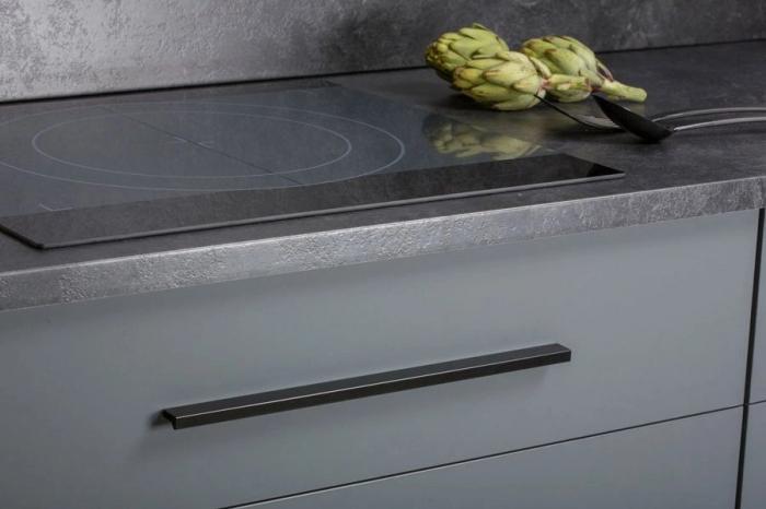 Maner pentru mobilier Angle, finisaj negru mat, L:200 mm 2