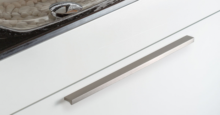 Maner pentru mobilier Angle, finisaj otel inoxidabil, L:100 mm 1