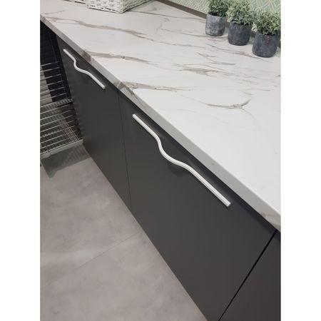 Maner pentru mobilier Brave alb mat, L= 400 mm 3