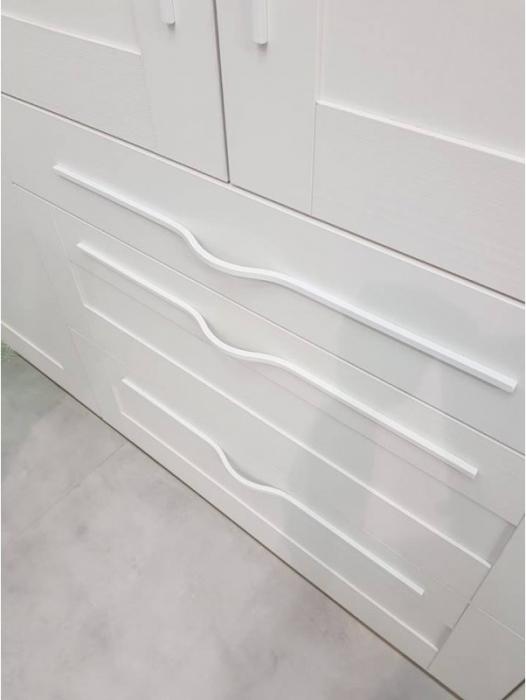 Maner pentru mobilier Brave alb mat, L= 400 mm 2