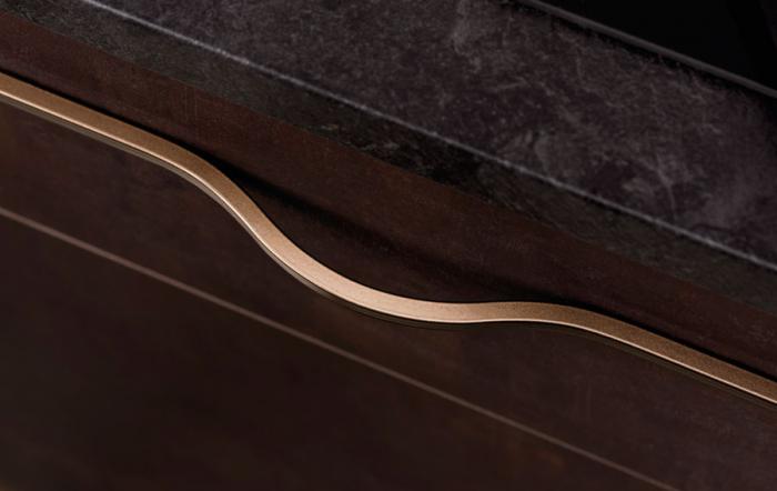 Maner pentru mobilier Brave maro metalizat, L= 600 mm 0