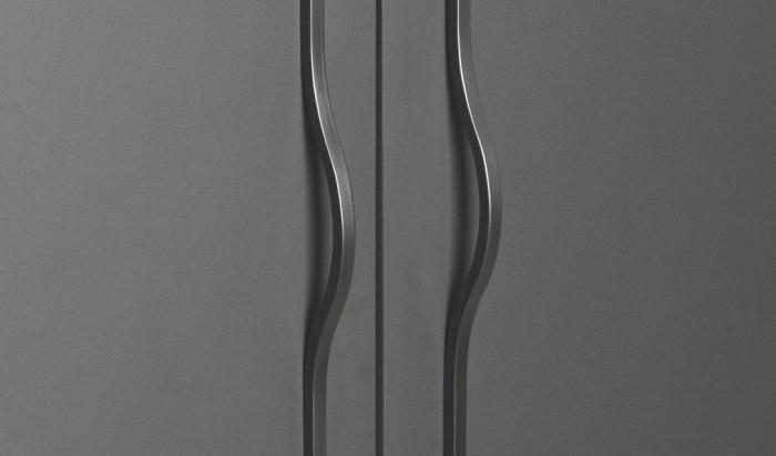Maner pentru mobilier Brave negru mat, L= 240 mm 1