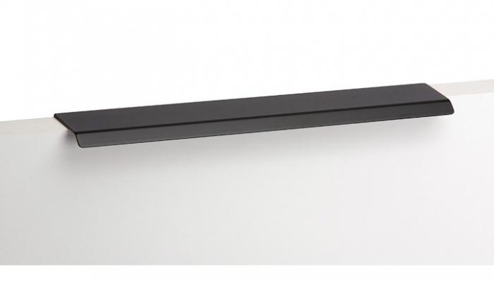 Maner pentru mobilier Cruve, negru mat, L: 200 mm 1
