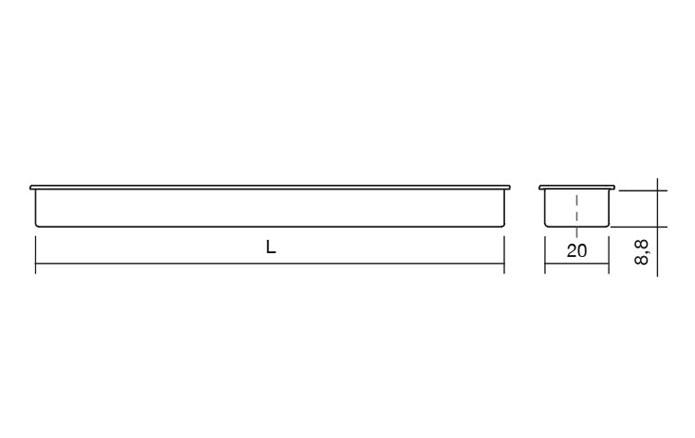 Maner pentru mobilier Cubic alb mat 1